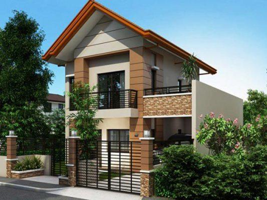 Thiết kế nhà hai tầng mái Thái đơn giản