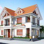 Thiết kế nhà mái Thái hai tầng siêu đẹp tại Vĩnh Phúc
