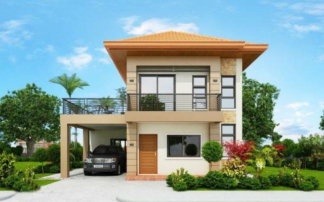 Thiết kế nhà hai tầng mái Thái nông thôn đẹp