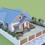 Thiết kế nhà vườn 4 phòng ngủ anh Thái Sông Lô Vĩnh Phúc
