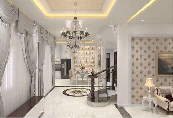 Công trình thiết kế nội thất cổ điển anh Trung Vĩnh Tường Vĩnh Phúc