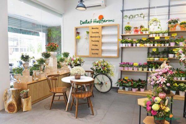 Thiết kế nội thất shop hoa tươi
