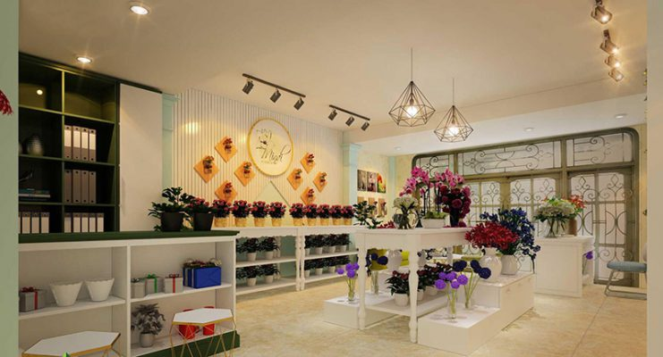 Thiết kế nội thất shop hoa tươi ấn tượng