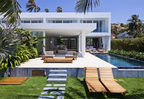 Phong cách thiết kế thi công biệt thự nghỉ dưỡng hiện đại
