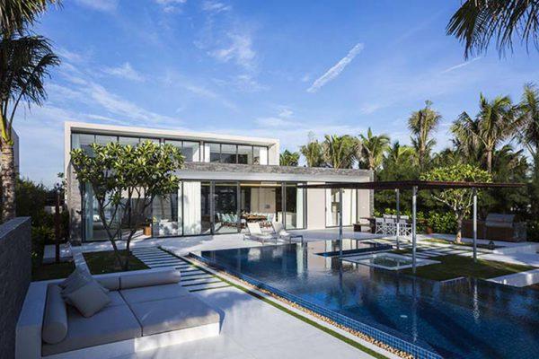 Phong cách hiện đại trong thiết kế biệt thự nghỉ dưỡng