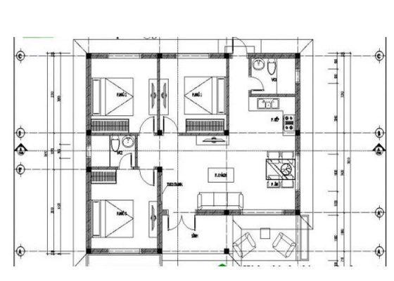 Thiết kế thi công nhà cấp 4 mái nhật anh Toản Bình Xuyên Vĩnh Phúc