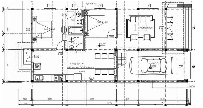 Công trình thiết thiết kế thi công nhà cấp 4 mái nhật anh Toản Bình Xuyên Vĩnh Phúc