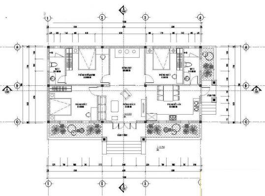 Biệt thự 1 tầng 130m2 mái thái tại Hải Dương