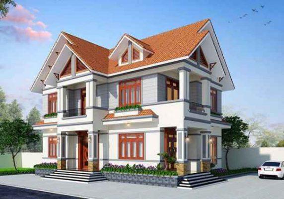 Thiết kế mẫu biệt thự 2 tầng 900 triệu tại Vĩnh Phúc