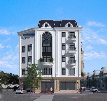 Thiết kế biệt thự 5 tầng tân cổ điển tại Vĩnh Phúc