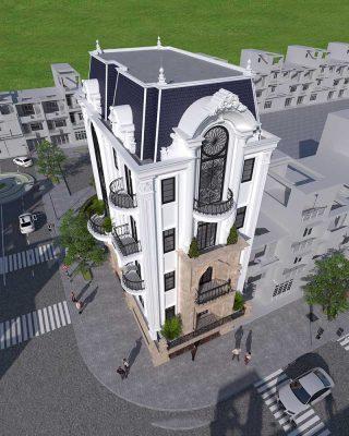 Chi tiết thiết kế biệt thự 5 tầng tân cổ điển tại Vĩnh Phúc