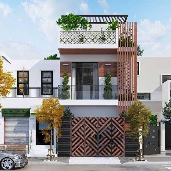 Thiết kế không gian sinh hoạt cho ngôi nhà 2 tầng 70m2