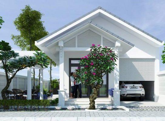 Thiết kế nhà mái Thái tone màu sáng