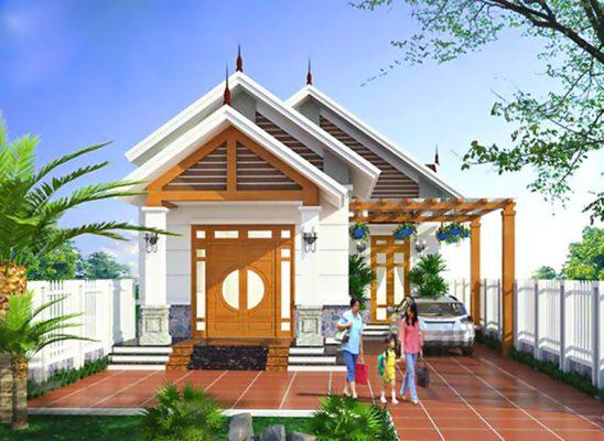 Thiết kế nhà vườn 9x20m tại Bắc Ninh