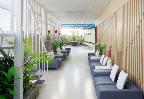 hành lang chờ khám tại Bệnh viện