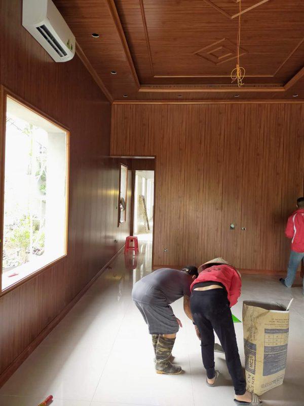 Thi công trần nhựa giả gỗ PVC NANO tại Vĩnh Phúc 1