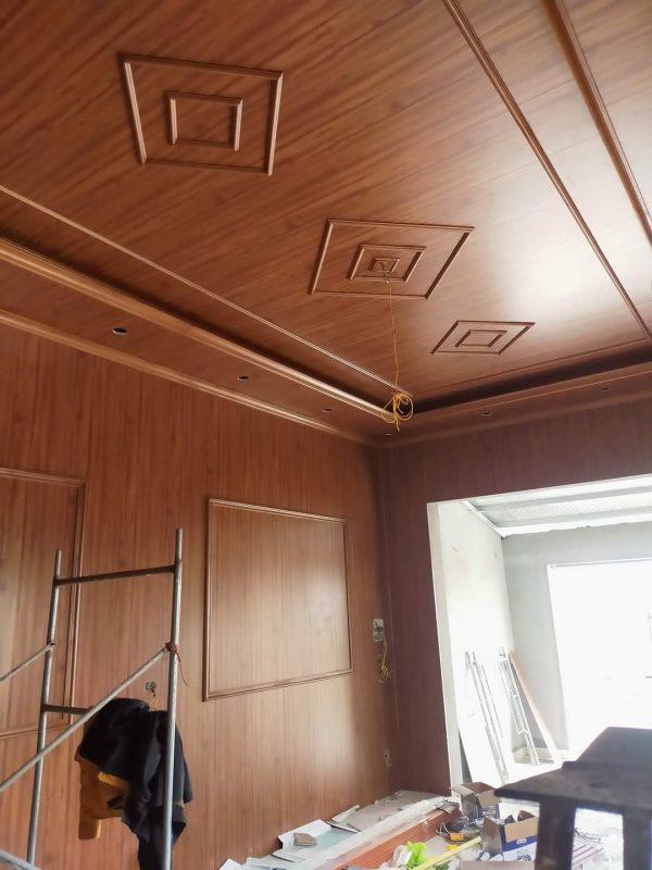 Thi công trần nhựa giả gỗ PVC NANO tại Vĩnh Phúc 2