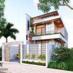 Thiết kế nhà phố kiến trúc hiện đại anh Thuận tại Vĩnh Tường – Vĩnh Phúc