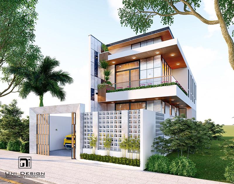Thiết kế nhà phố kiến trúc hiện đại tại Vĩnh Tường – Vĩnh Phúc