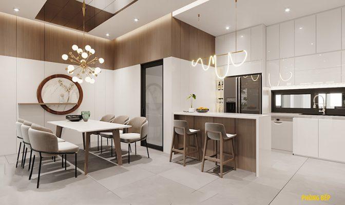 Thiết kế nhà 3 tầng hiện đại - phòng bếp ăn