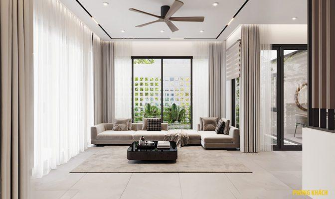 Thiết kế nhà 3 tầng hiện đại - phòng khách