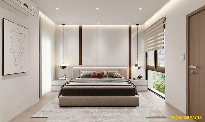 Thiết kế nhà 3 tầng hiện đại - phòng ngủ master