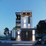 Thiết kế nhà 3 tầng hiện đại gia đình anh Hưng tại Hà Tây