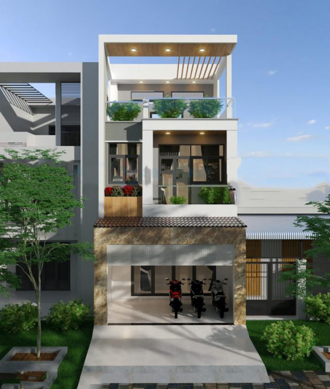 Thiết kế nhà nở hậu 5x14m tại Thanh Hóa