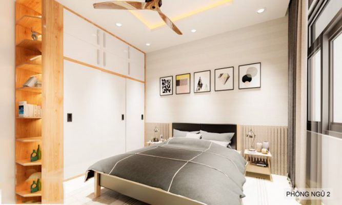 Phòng ngủ thiết kế nhà nở hậu 5x14m tại Thanh Hóa