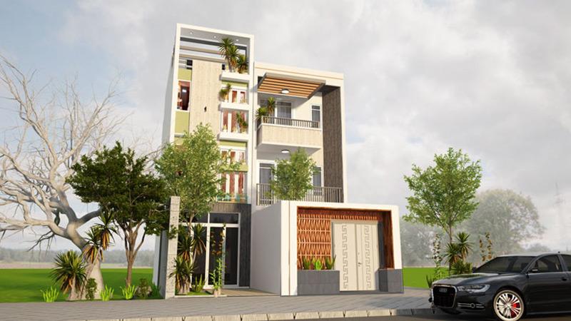 nhà phố 3 tầng 1 tum tại Thái Bình