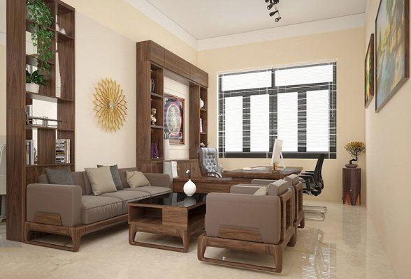 Thiết kế thi công nội thất phòng hiệu trưởng tại Vĩnh Phúc