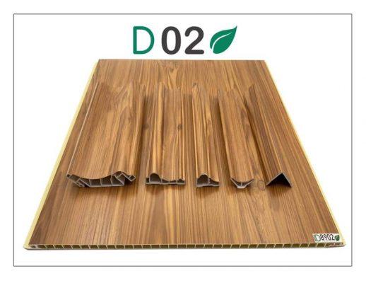 Trần giật cấp giả gỗ PVC NANO Vĩnh Phúc