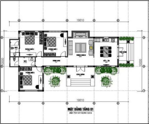 Mẫu biệt thự 400 mét vuông tại Vĩnh Phúc