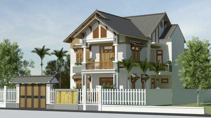 Mẫu biệt thự nhỏ 2 tầng 120m2 tại Vĩnh Phúc