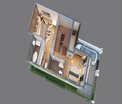 Chi tiết cụ thể mẫu nhà 8 x 20m2 cuốn hút