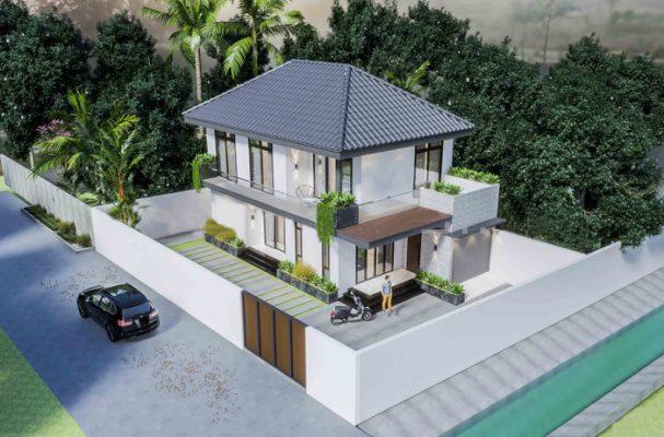 Thiết kế biệt thự mái nhật tại Phú Thọ