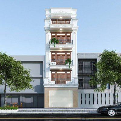 Thiết kế nhà 3 tầng mặt phố tại Phú Thọ