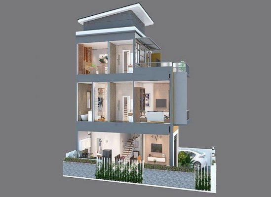 Tất cả những mẫu nhà 3 tầng mặt phố tại phú Thọ mới nhất