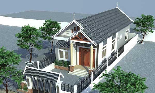 Thiết kế nhà cấp 4 dưới 500 triệu tại Vĩnh Phúc