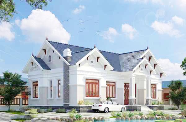 Thiết kế nhà cấp 4 mái nhật đẹp nhất Phú Thọ