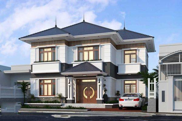 Thiết kế nhà mái thái 2 tầng anh Quang tại Phúc Yên Vĩnh Phúc