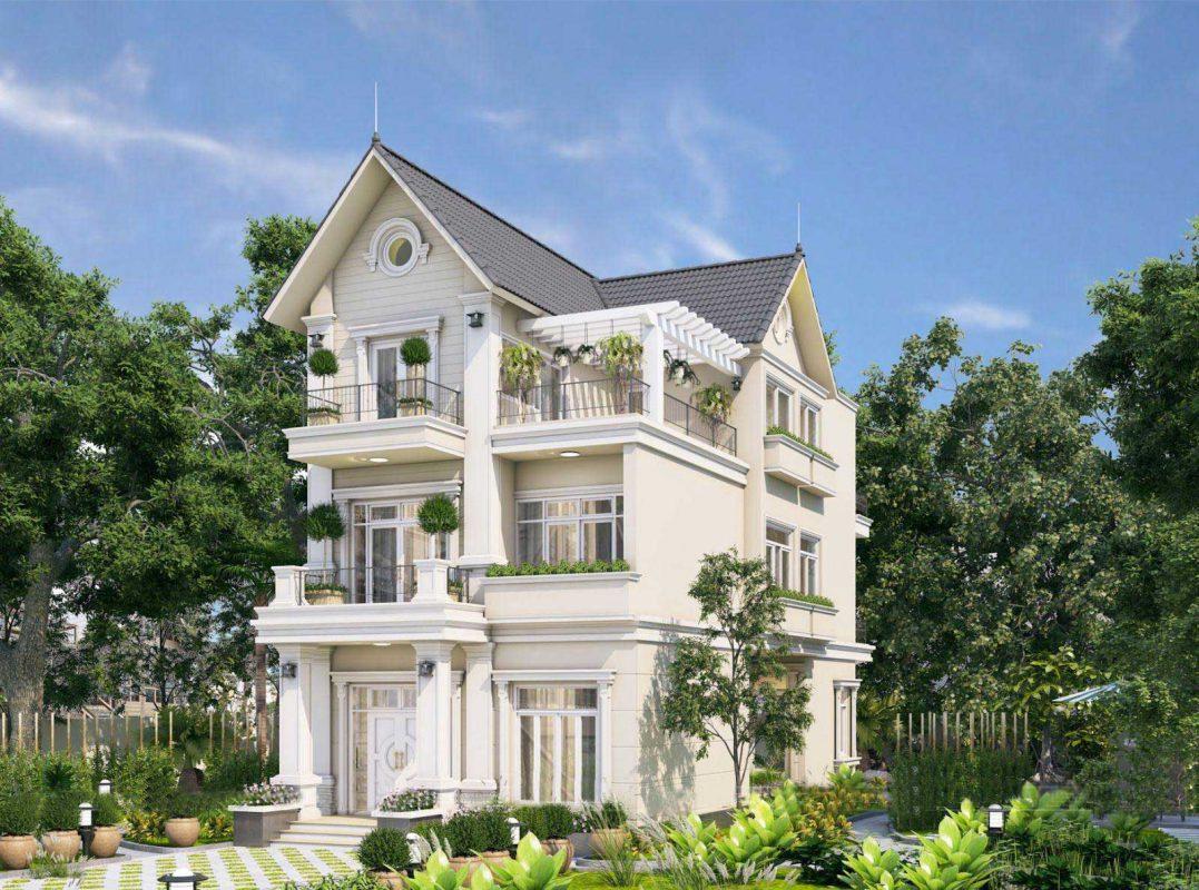 Thiết kế thi công biệt thự đẹp tại Phú Thọ