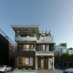 Thiết kế biệt thự hiện đại 2 tầng 1 tum anh Hoàng tại Nam Định