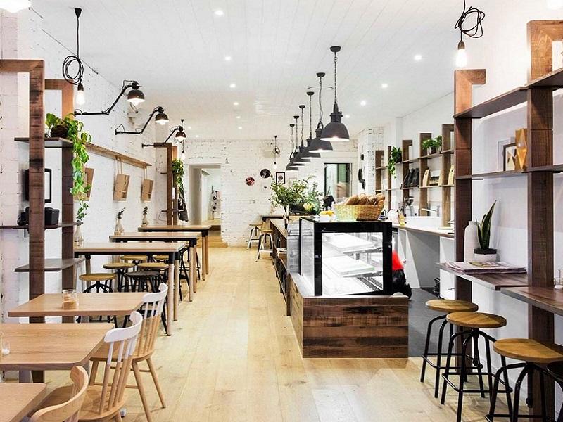 Thiết kế quán café nhà ống
