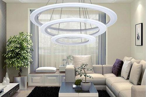 Mẫu đèn chùm pha lê theo phong cách hiện đại