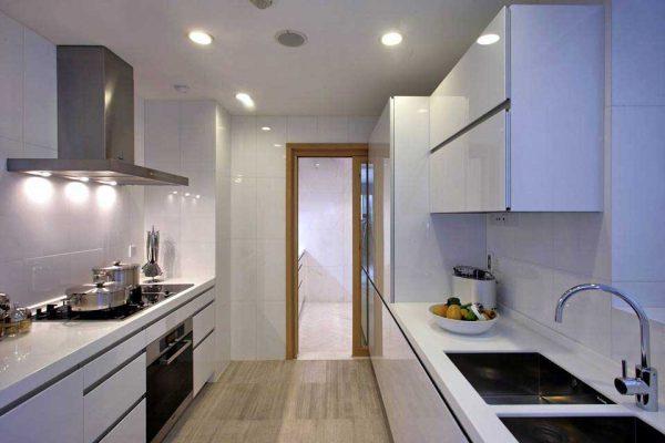 Vị trí phù hợp để đặt bếp và kiểu dáng tủ