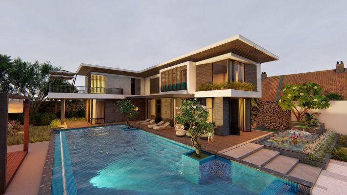 Bể bơi trong xanh cho biệt thự