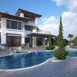 Những lưu ý khi thiết kế biệt thự có bể bơi