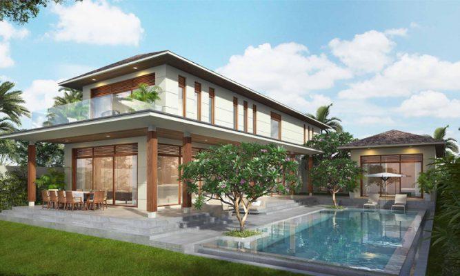 Thiết kế biệt thự có bể bơi đặt trước