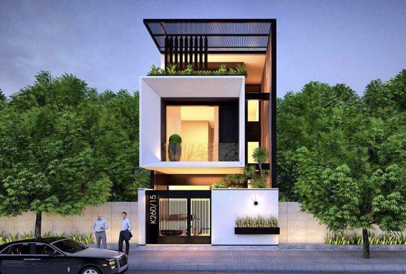 Nhà 3 tầng có phong cách đơn giản